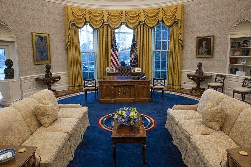 Декор овального кабінету Джо Байдена, 20 січня 2021 року