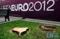 Фан-зона за день до відкриття Євро: робота кипить, дерева спиляли