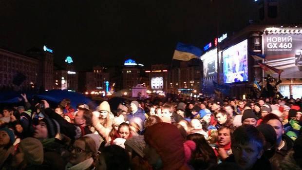 Митинг на Майдане после объединения