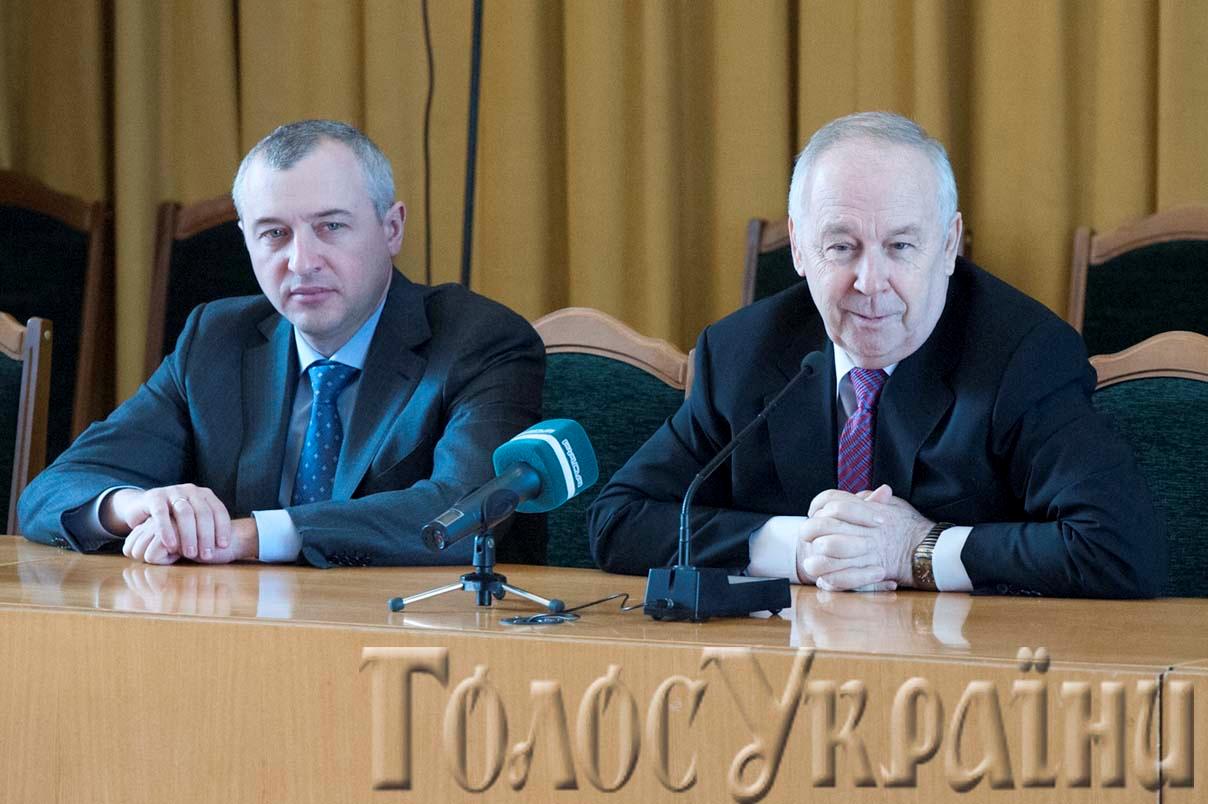 Спікер Володимир Рибак і перший заступник Ігор Калєтнік