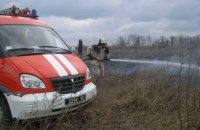 Из-за пожара сухой травы семь сел в Закарпатской области остались без газа