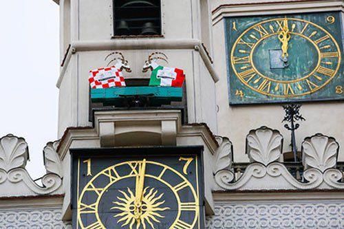 Годинник на Старій ринковій площі в Познані