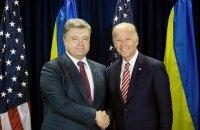 Байден попередив Порошенка про ризик скасування санкцій ЄС проти Росії
