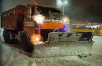 """""""Киевавтодор"""" задействовал 134 единицы техники для предотвращения гололедицы"""