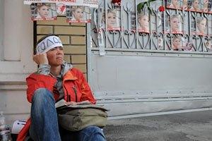 Еще одной киевской голодающей за Тимошенко стало плохо