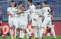 """""""Рома"""" дискваліфікована за 6 замін у матчі і вилетіла з Кубка Італії"""