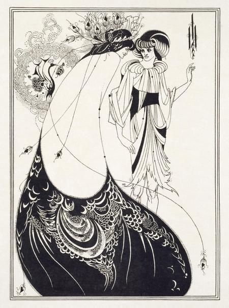 Обри Бердслей. Павлинья юбка. 1894. Фототипия. Музей Виктории и Альберта, Лондон.
