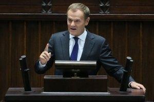 Туск: зросла загроза військової інтервенції Росії в Україну