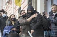 """На учасника мітингу під ОПУ Сорда склали адмінпротокол за """"незаконні дії щодо державних нагород"""""""