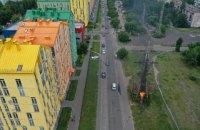 Из-за пожара высоковольтной опоры часть левого берега Киева осталась без света на два часа