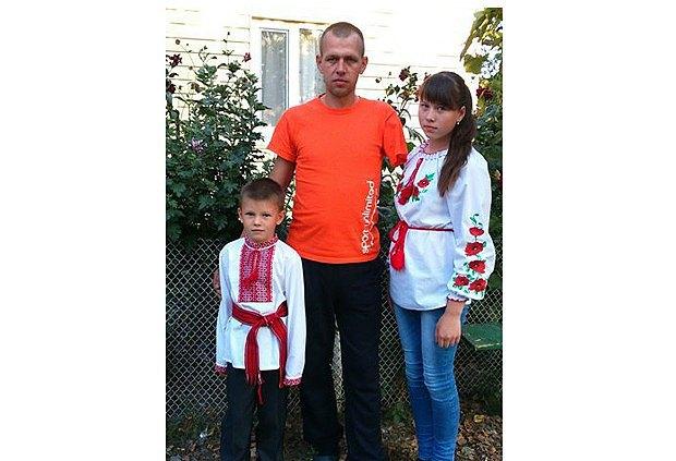 Гордийчук с дочкой и сыном