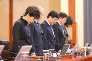 Президент Південної Кореї публічно попросила вибачення за аварію порома