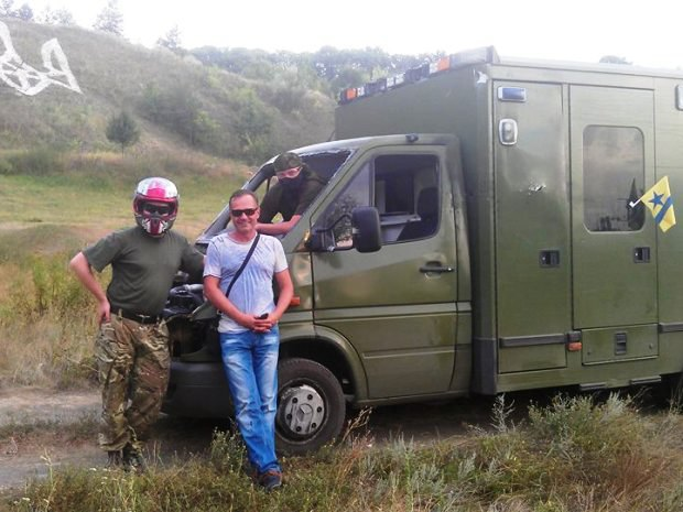 Месяц назад активисты доставили автомобиль из зоны АТО в Харьков