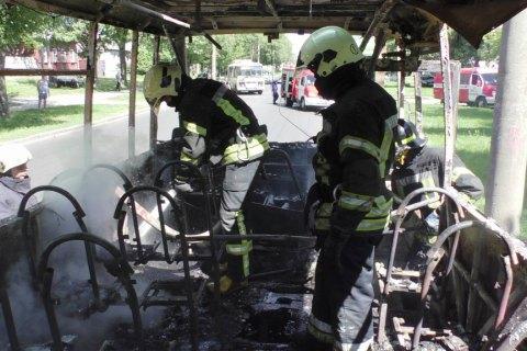 В Чернигове сгорела маршрутка