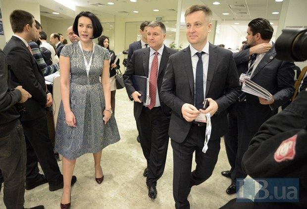 В центре - Арсен Аваков, министр внутренних дел Украины