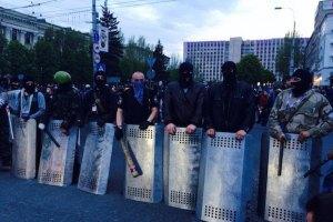 У Донецьку сепаратисти захопили чотирьох учасників мітингу