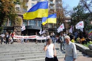 В Хмельницком оппозиция митинговала вместе с властью