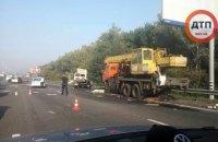 На Бориспольской трассе в сторону Киева из-за ДТП образовалась большая пробка