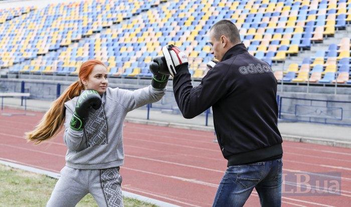 Станіслава і Олег тренуються