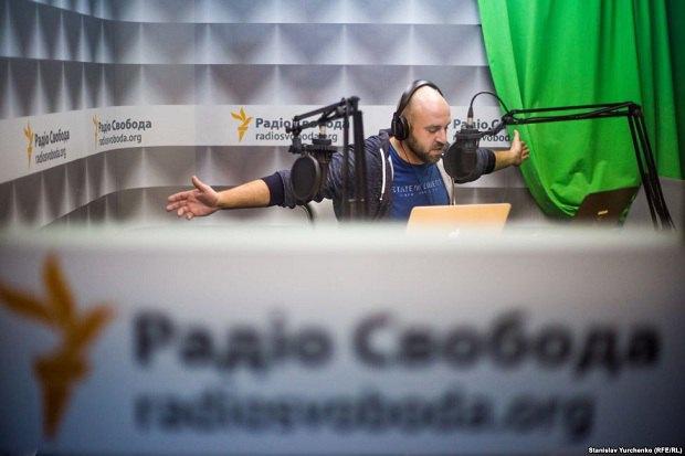 """Павел Казарин - один из ведущих на радио """"Крым.Реалии"""", дочернем проекте """"Радио Свобода"""""""