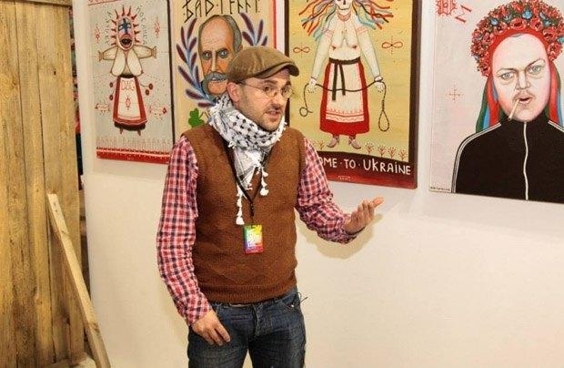 Іван Семестюк на власній виставці