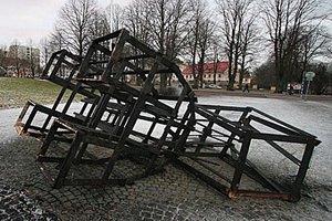 В Швеции сожгли рождественскую козу