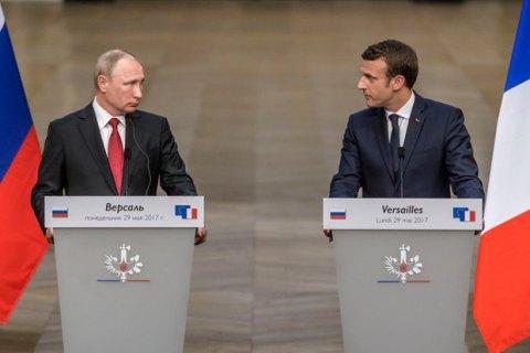 Макрон і Путін обговорили по телефону ситуацію в Україні