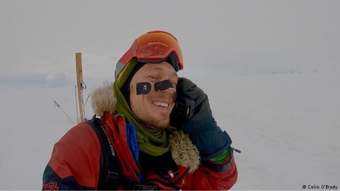 Колін О'Брейді першим в історії перетнув Антарктику поодинці