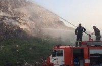 На полтавской свалке произошел пожар