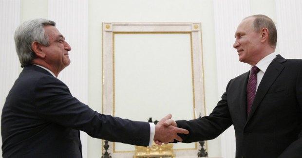 Серж Саргсян, Владимир Путин