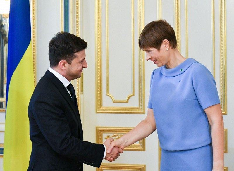 Президент України Володимир Зеленський з президентом Естонії Керсті Кальюлайд