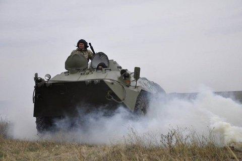 На Донбассе прошли учения танковых подразделений резерва