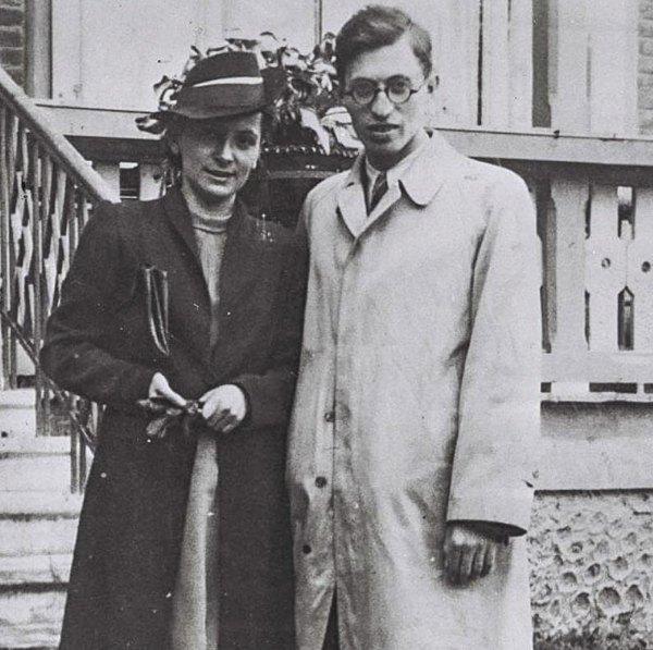 Ализа и Менахем Бегин на следующий день после свадьбы, Трускавец.