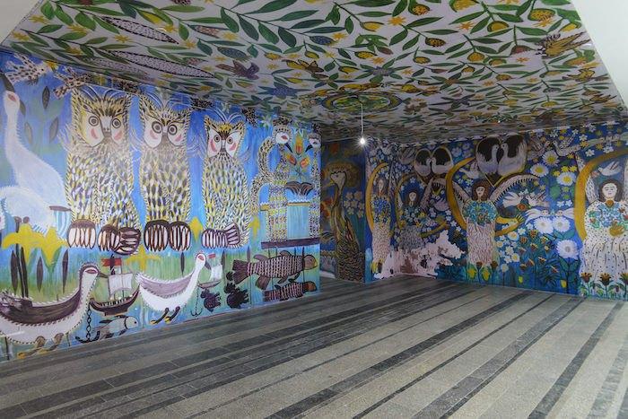 Воссозданные росписи в доме Полины Райко