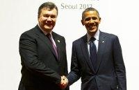 Янукович пожал руку Обаме