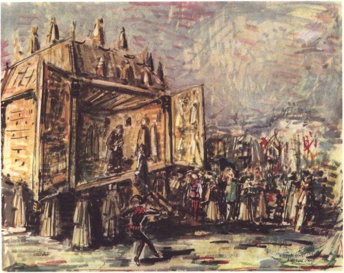 Александр Тышлер. Эскиз декорации к пьесе Шекспира «Король Лир», 1963
