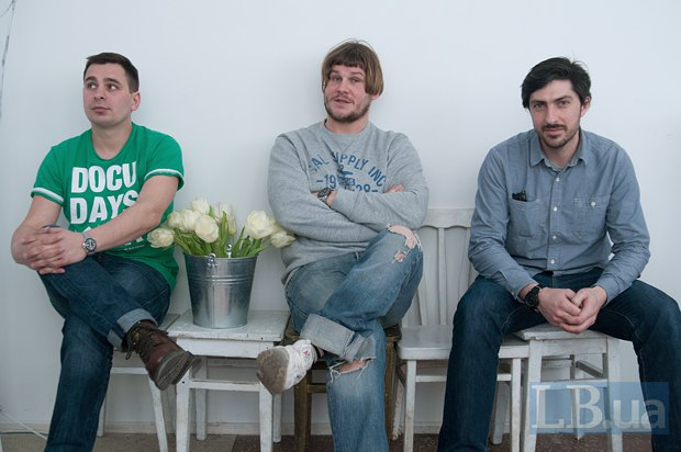 Слева направо: Александр Течинский, Алексей Солодунов и Дмитрий Стойков