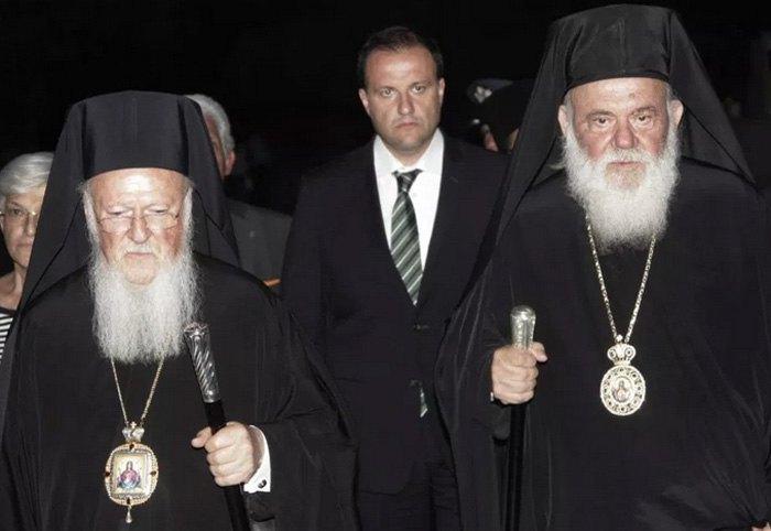 Константинопольский Патриарх Варфоломей и Архиепископ Афинский Иероним