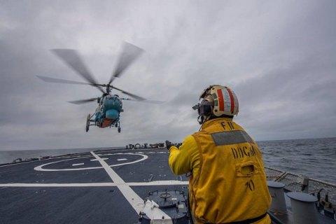 Авиация украинских ВМС и военный корабль США провели тренировки в Черном море