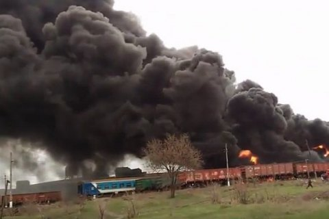 В окупованому Краснодоні згоріли вагони з контрабандним вугіллям
