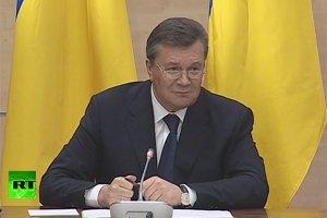 Янукович про ситуацію в Криму: кримчани просто захищаються від бандерівців