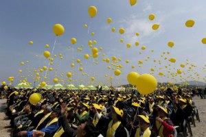 Лидеров Южной Кореи не пустили на церемонию, посвященную жертвам одной из крупнейших морских катастроф XXI века
