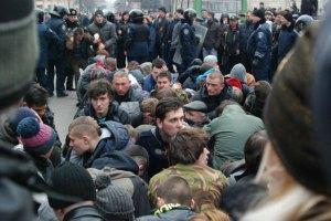 Харківські сепаратисти розігнали мітинг євромайданівців