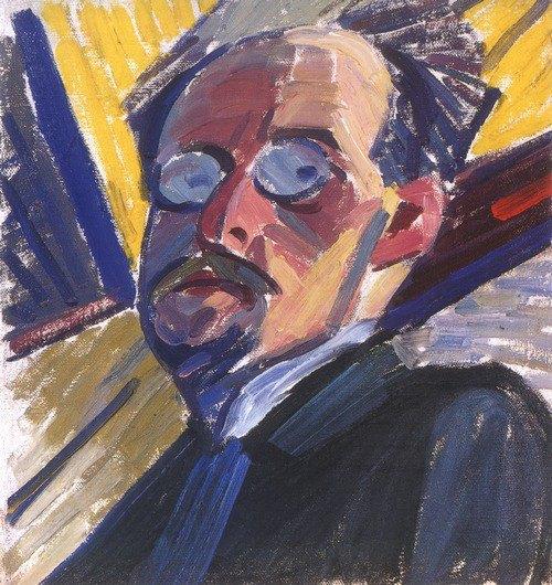 «Автопортрет», 1914-1915. Олія, полотно.