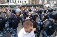 В Петербурге арестовали мужчину за удар кулаком по бронежилету во время антикоррупционного митинга