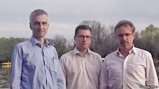 Слева направо: Венцислав Буйич, Сергей Лущ, Алексей Кочетков, Белград, Сербия