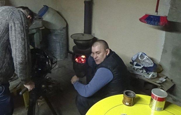 Александр Попов во время съемок