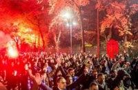 """Фанаты соперников """"Шахтера"""" устроили стычки с полицией перед матчем Лиги Чемпионов"""