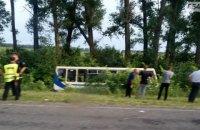В Сумской области перевернулся рейсовый автобус