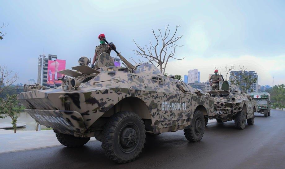 Національна армія Ефіопії проводить навчання в Аддис-Абебі, 10 вересня 2020 р.